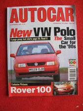 November Autocar Cars, 1990s Transportation Magazines
