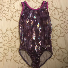 Gk Bright Purple w/Transluscent Finish Gymnastics Leotard - Girls As - Gorgeous