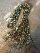 Charming Charlie NWT Rectangle Scarf Shawl Wrap 80x12 Fringe Career Multi-color