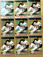 1992 UD FANFEST #27 RICKEY HENDERSON ~ 9 CARDS LOT ~ HALL OF FAME INDUCTEE