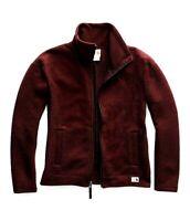 New The North Face Womens Athletic Sibley Fleece Zip Jacket Deep Garnet Jacket M