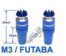 1Set M3 Blue Futaba / Spektrum DX6i DX7S DX8 DX9 TX Gimbal Sticks TH016-03002B