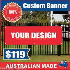 Custom Outdoor Vinyl Banner Sign - 3300mm x 900mm - Australian Made