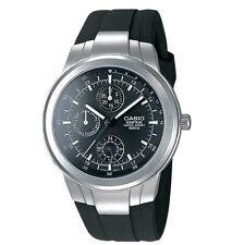 Casio EF305-1AV, Edifice Watch, Black Dial, Resin Band, Day/Date, Multi Dial