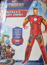 The Avengers Iron Man Muscle Adult Costume Size XL 42-46 Brand New