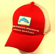 Simms Fishing Adjustable Trout Trucker Hat Scarlet and Free Decal