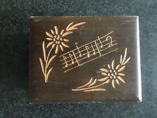 Vintage Swiss Chalet Music Box Cuendet Movement Edelweiss Bollina-Schneider Play