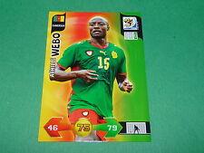 WEBO CAMEROUN PANINI FOOTBALL FIFA WORLD CUP 2010 CARD ADRENALYN XL