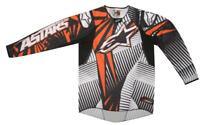 New Motocross Jersey Alpinestars Techstar Org/Blk MX Enduro Sizes Medium