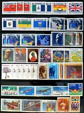 48 uncancelled Canadian postage stamps, no gum