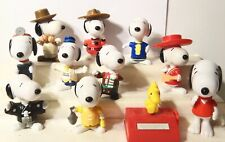Vintage Snoopy Plastic McDonalds Burger King Fast Food Figures Toys Lot