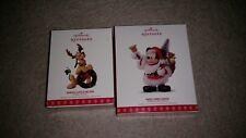 Mickey Mouse Here Comes Santa! & Santa's Little Helper  2017 Hallmark Ornaments
