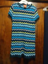 Missoni for Target Bright Mutli Classic Pattern Fine Knit Dress M