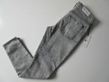 NWT 7 For All Mankind Ankle Skinny in Mineraled Smoke Grey Stretch Jeans 30