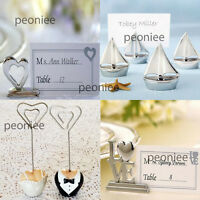 Table number card name place holder clip wedding party reception photo memo