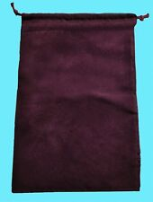 Chessex SMALL BURGUNDY DICE BAG SUEDE Drawstring 4x6 Storage Velour Pouch Cloth