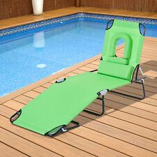 Outsunny Garden Sun Lounger Outdoor Folding Day Bed Chair Beach Pool Recliner