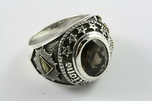 Masonic Freemason Ring Knight Templar Seal Ring Freemason 925 Silver /618