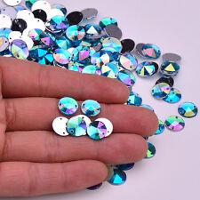 50 AB Aqua Blue Sew On, Stitch On, Stick on DIAMANTE Crystal Rhinestones