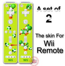 Yoshi Lemon Edition Super Mario Skin Vinyl Sticker Cover for Nintendo Wii Remote