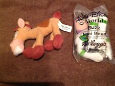 Toy Story Disney Mini Bean Plush Buzz Li and Bullseye Made for Kellogs with Tags