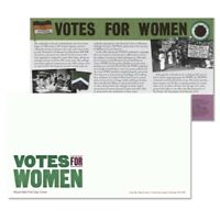 Royal Mail First Day Cover Envelope & Insert Card Votes For Women Pankhurst