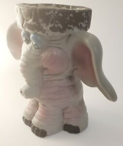 Cute Homemade Ceramic Elephant Planter