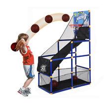 Indoor Basketball Hoop Arcade Game Room Kids Goals Ball pump Family Sb