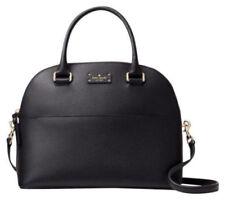 New Kate Spade Grove Street Carli Black Leather Satchel Handbag Purse MSRP $359