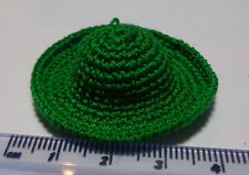 1:12 Scale Ladies Green Crochet Hat  Dolls House Miniature ( Green)