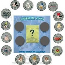 Disney Pin: WDW Character Coins - Mystery Pin Collection - 5 Pin Set