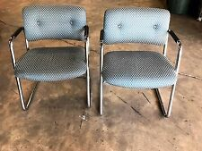 Reupholstered Retro Guest Chairs by Steelcase