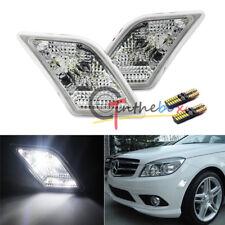 White LED Lights Side Marker Lamps For 08-11 Mercedes Benz W204 C250 C300 C350
