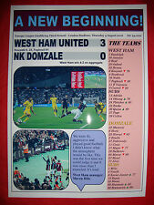 West Ham United 3 NK Domzale 0 - 2016 Europa League - souvenir print