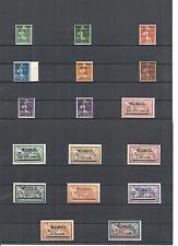 Memel, Litauen, Klaipeda 1920, Einzelmarken aus MiNrn: 18 - 33 **, postfrisch **
