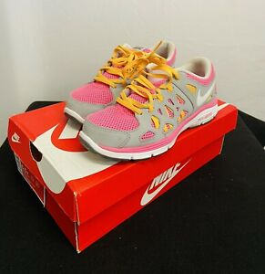 Nike Dual Fusion Lite (GS) Girls Size 5Y Youth Shoes 599793-602 Gray / Pink