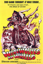 Werewolves On Wheels B Movie Poster A3 reprint