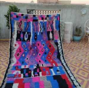 Vintage Moroccan Berber Boujad Rug handmade carpet wool  decor 6″x8″ feet