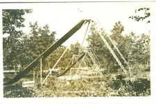 Higgins Lake State Park MI The Playground Slides and Swings RPPC 1930