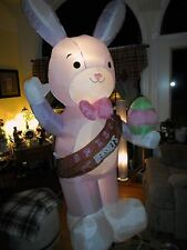 Easter Lighted Inflatable Air 8 Foot Rabbit Bunny Hershey's Gemmy