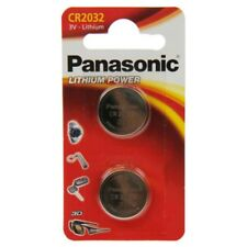 2x CR2032 Lithium-Batterie 3,0 Volt 220mAh ø20x3,2mm 3V Blisterpack Panasonic