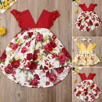 Toddler Kid Baby Girl Floral Dress Princess Party Summer Sleeveless Romper Dress