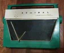📻 Vintage 50's Admiral 7L18 Transistor Sun Radio Green WORKS!!!