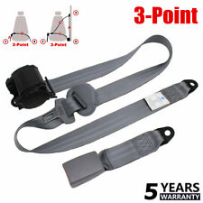 3 Point Set Car Auto Vehicle Adjustable Retractable Safety Seat Belt Straps NEW~