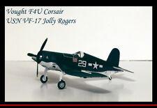 Die-cast 1/72 F4U Corsair USN VF-17 Jolly Rogers World War 2 Fighter Airplane