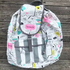 Benefit Cosmetics San Francisco Thought Bubble Pop Art Canvas Backpack Bag NWOT