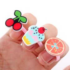 10pc/lot Love Kids Cute Sweet Ring Fruit Fashion Jewelry Girl Child Finger Rings