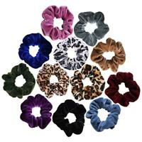 12Pcs Women Hair Scrunchies Velvet Elastics Hair Ties Scrunchy Bands Ties Ropes