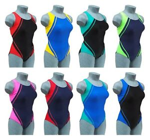 ACCLAIM Fitness Belize Ladies Girls Racer Back Swimming Costume Swim Suit Lycra