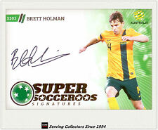 2013-14 A League Trading Cards Super Socceroos Signature SS5 Brett Holman
